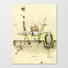 Process Sketch Canvas Print