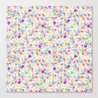 Ditsy Candy Canvas Print