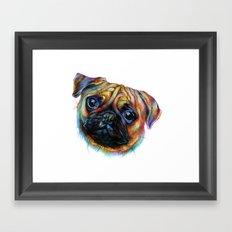 Pug-a-tron Framed Art Print