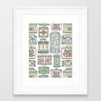 Tea Tins Framed Art Print