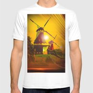 Greetsiel  Zwillingsmüh… Mens Fitted Tee White SMALL