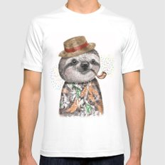Mr.Sloth Mens Fitted Tee White SMALL