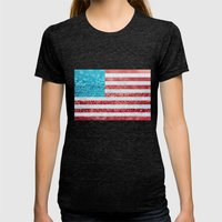 Red, White, And Glitter … Womens Fitted Tee Tri-Black SMALL