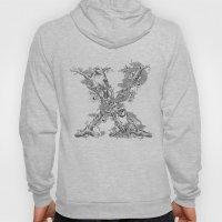 Letter 'X' Monochrome Hoody