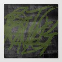 Killing Me / Green Canvas Print