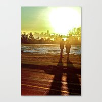 A Mix Of Sun And Snow Canvas Print