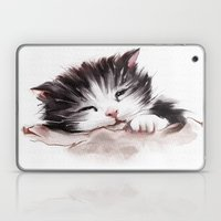 Kitten Sleeps Laptop & iPad Skin