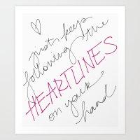 Heartlines Art Print