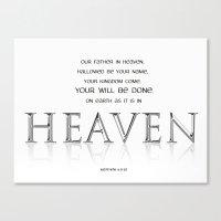 As it is in HEAVEN Canvas Print
