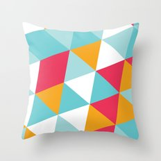 Tropical Triangles Throw Pillow