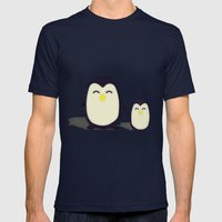 Penguins Mens Fitted Tee Navy SMALL