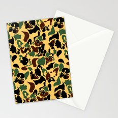 Frenchie Camouflage Stationery Cards