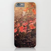 iPhone & iPod Case featuring Autumn Leaves of Red by Angela Stansell Photography