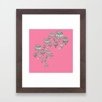 balloons in the pink Framed Art Print