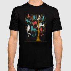 TREE CATS SMALL Black Mens Fitted Tee