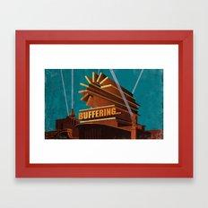 Buffering Framed Art Print