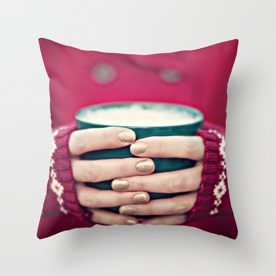 christmas cocoa Throw Pillow