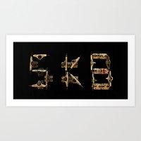 Sk8 typography Art Print