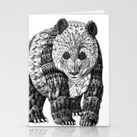 panda Stationery Cards featuring Panda by BIOWORKZ