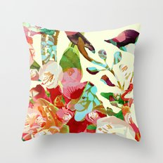 clown floral Throw Pillow