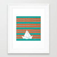 PaperBoat Framed Art Print