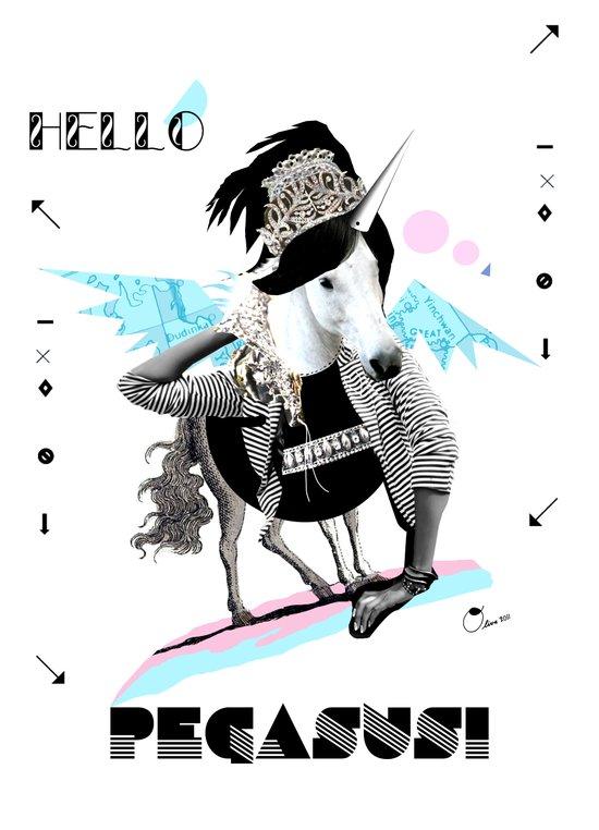 ---->HELLO PEGASUS!  Art Print
