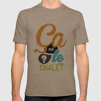 Ca Va Le Chalet ? Mens Fitted Tee Tri-Coffee SMALL