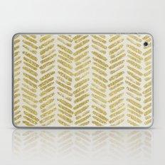 Golden Stripes Laptop & iPad Skin