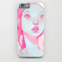 iPhone & iPod Case featuring visage - pink by loish