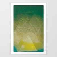 illuminate me green Art Print