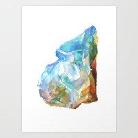Raw Opal Art Print