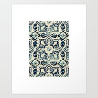 Tile Pattern - Portugues… Art Print