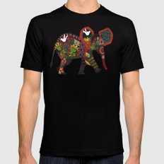 little elephant Mens Fitted Tee Black SMALL
