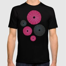 Sea's Design - Urchin Skeleton (Pink & Black) Mens Fitted Tee Black SMALL