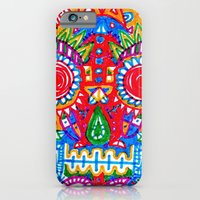iPhone & iPod Case featuring A really colourful skull by Sára Szabó