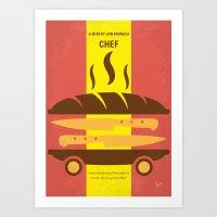 No524 My CHEF minimal movie poster Art Print