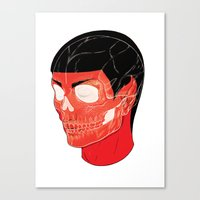 Red Vulcan Canvas Print