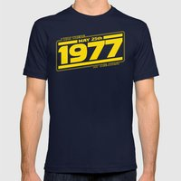 There at the Start Mens Fitted Tee Navy SMALL