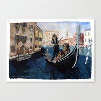Melancholy city. Canvas Print