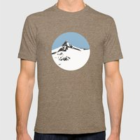 Mount Aspiring Mens Fitted Tee Tri-Coffee SMALL