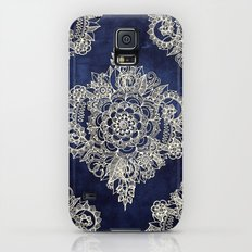 Cream Floral Moroccan Pa… Galaxy S5 Slim Case