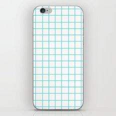 Grid (Turquoise/White) iPhone & iPod Skin