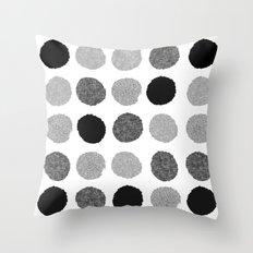 Yves - Greyscale Monochr… Throw Pillow