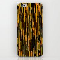 Vertical Brush Orange Ve… iPhone & iPod Skin