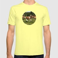 Spring Horse Run Mens Fitted Tee Lemon SMALL