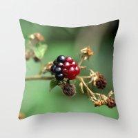 Berry Ripening Throw Pillow