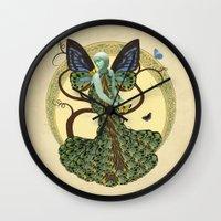 Lepidoptera Somniare Wall Clock