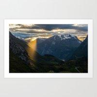 Geiranger Sun Art Print