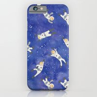 iPhone & iPod Case featuring Space Astronauts by Stephanie Marie Steinhauer