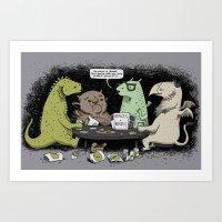 Monsters Love RPGs Art Print